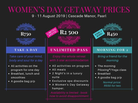 three options to spend womens day weekend at Cascade Country Manor