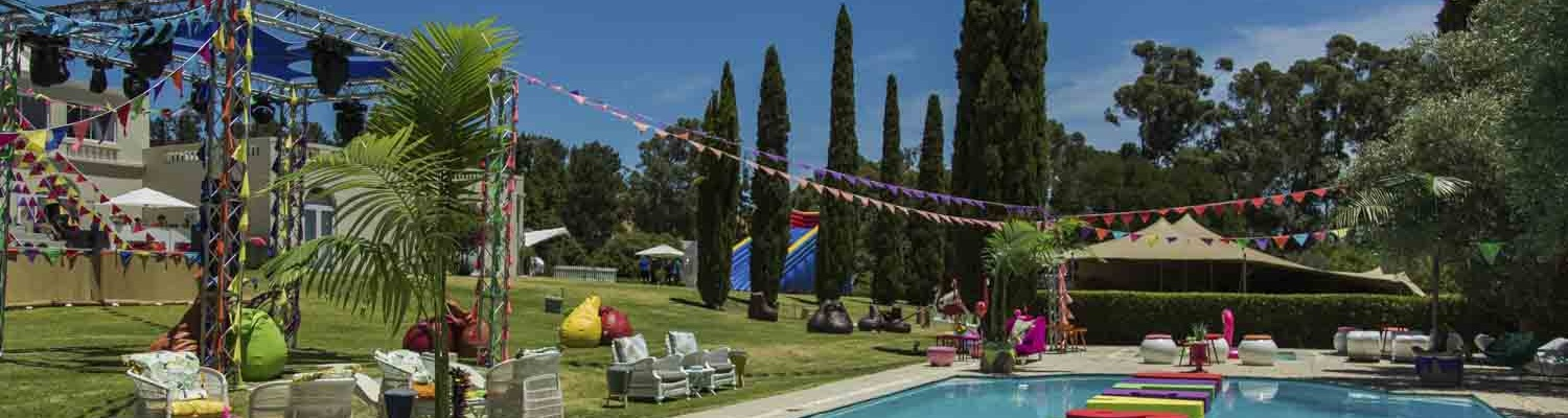 Summer celebration around Cascade Country Manor Pool